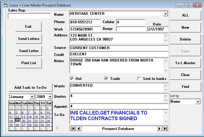 Contact Database Instructions auto dealer software 117 auto car ...